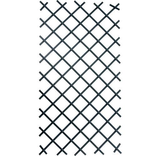 Celosía extensible de pvc gris 100x200 cm