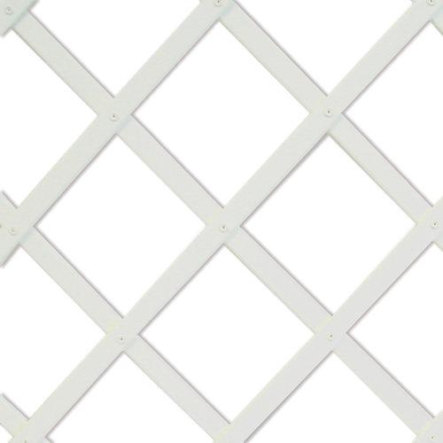 Celosía extensible de pvc blanco 100x200 cm