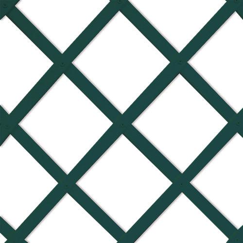 Celosía extensible de pvc verde 100x200 cm