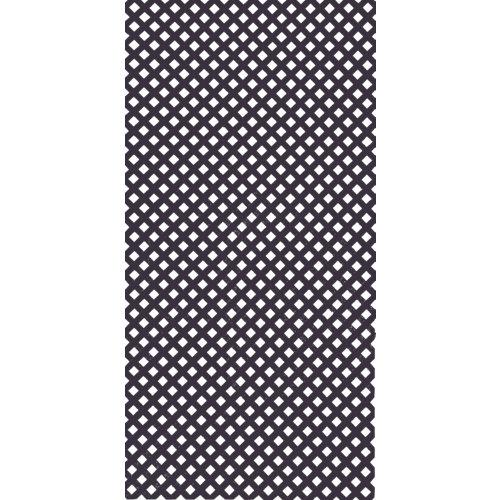 Celosía fija de pvc gris 100 x 200 cm