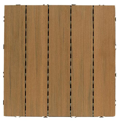 Baldosa de composite exterior teca 50x50 cm y 25 mm