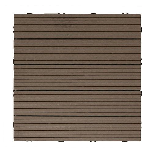 Baldosa de composite marrón 50x50 cm y 25 mm