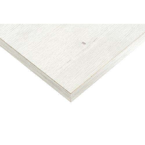 Tablero aglomerado blanco dafne 4 cantos de 39,7x80x1,6 cm (anchoxaltoxgrosor)