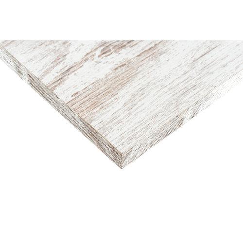 Tablero aglomerado blanco vintage 4 cantos de 39,7x80x1,6 cm (anchoxaltoxgrosor)