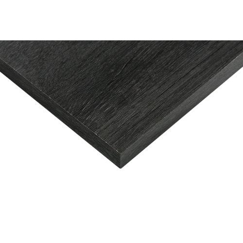 Tablero aglomerado de 4 cantos azabache 59,7x120x1,6 cm (anchoxaltoxgrosor)