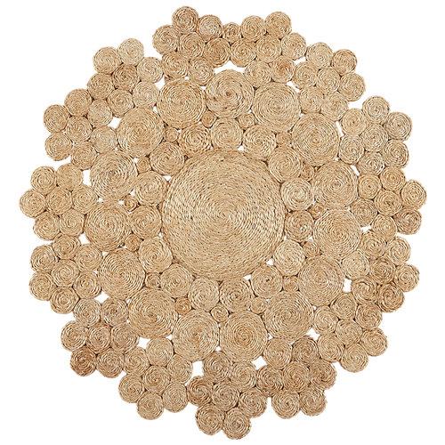 Alfombra marrón yute yute natural 2 150 x 150cm