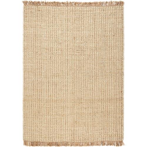 Alfombra marrón yute yute trenza 160 x 230cm