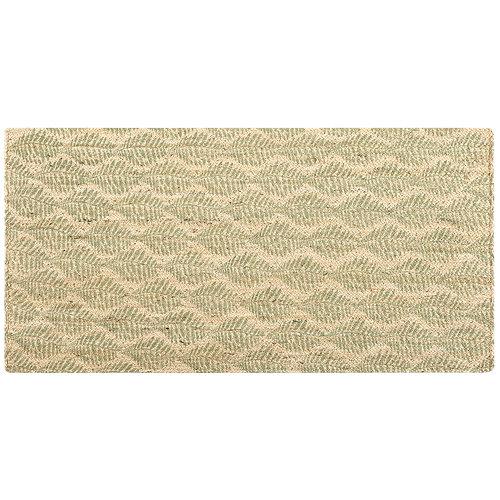 Alfombra verde yute yute stampato 160 x 230cm