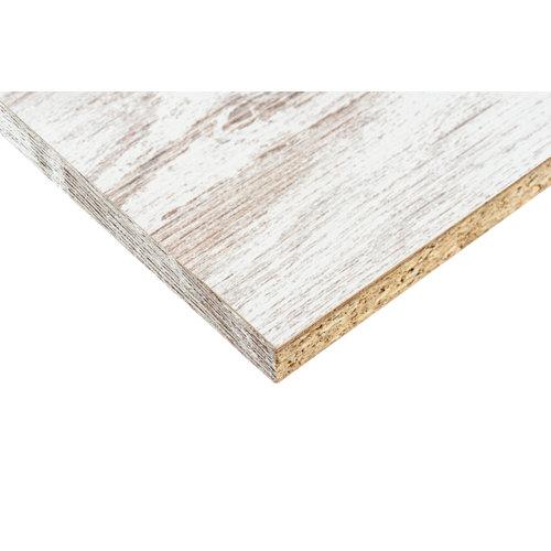 Tablero aglomerado blanco vintage 2 cantos de 59,7x244x1,6cm (anchoxaltoxgrosor)