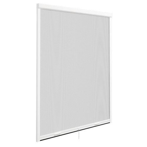 Mosquitera enrollado vertical para ventana de fibra de vidrio de 160x160 cm