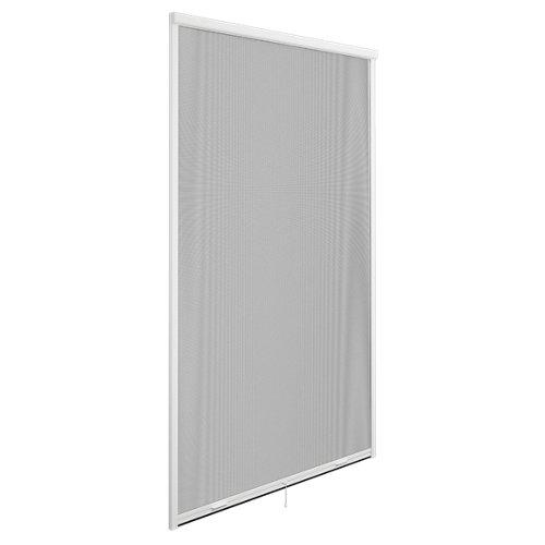 Mosquitera enrollado vertical para puerta de fibra de vidrio de 140x220 cm