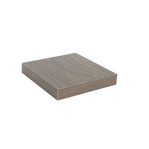 Estante spaceo mdf de color nogal 23x3,8x23 cm (anchoxgrosorxfondo)