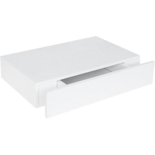 Estante spaceo mdf de color blanco 40x25x25 cm (anchoxgrosorxfondo)