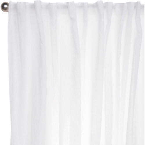 Visillo taylor con motivo liso gris de 270 x 300 cm