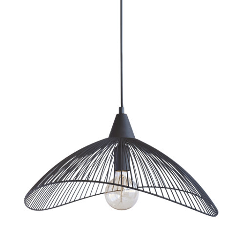 Lámpara de techo kastelli 1 luz ø45 cm negra