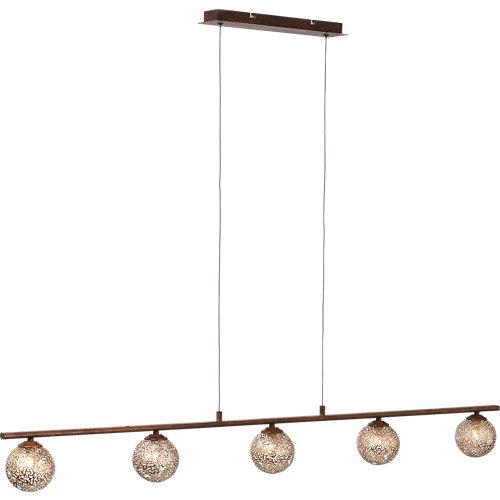 Lámpara de techo greta óxido 5 luces
