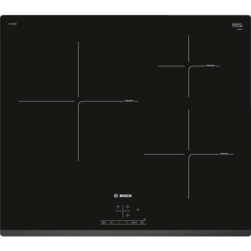 Placa de inducción bosch puj631bb2e de 5.1 x 59.2 cm con 3 zonas de cocción