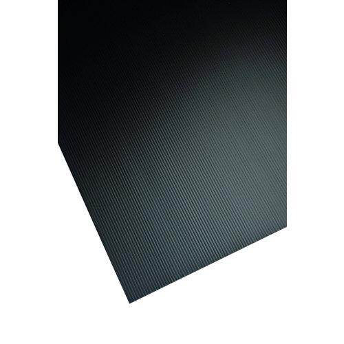 Placa de polipropileno negro opaco de 2.5 mm de grosor y 200x100cm