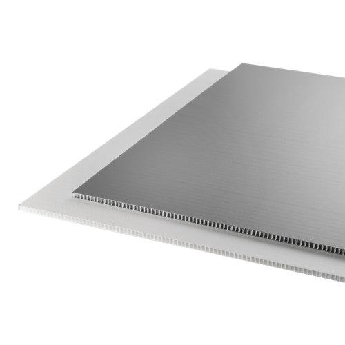 Placa bilaminato gris mate de 10.8 mm de grosor y 100x100cm