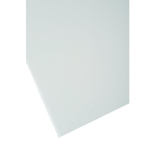 Vidrio plástico blanco opaco de 2.5 mm de grosor y 100x50cm