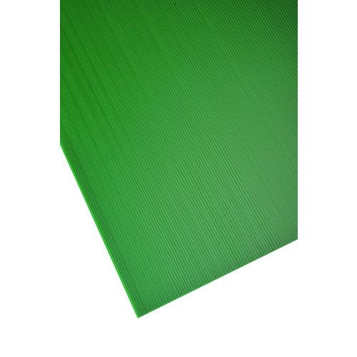 Vidrio plástico verde opaco de 2.5 mm de grosor y 100x50cm