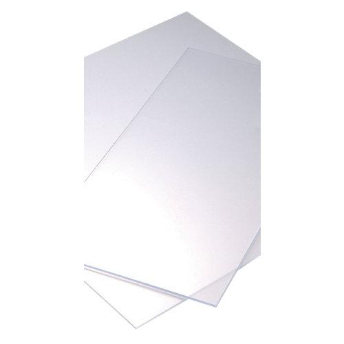 Vidrio plástico transparente liso de 4 mm de grosor y 50x25cm
