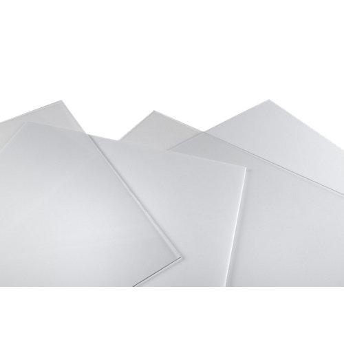Vidrio plástico blanco liso de 2 mm de grosor y 100x50cm