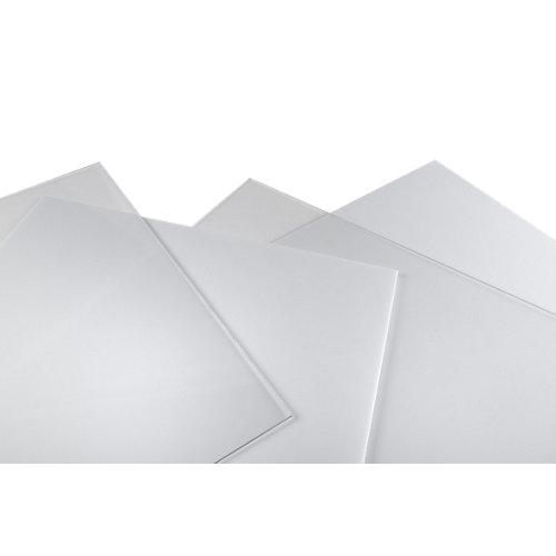 Vidrio plástico blanco liso de 4 mm de grosor y 150x50cm