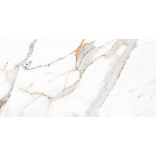Baldosa porcelánica de 60x120 cm en color blanco