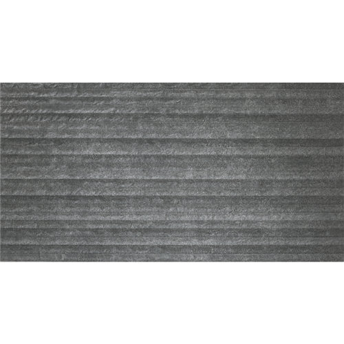 Revestimiento materia 31,6x60,8 relieve antracita artens