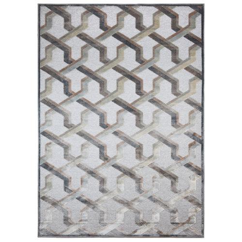 Alfombra gris viscosa provence 160 x 230cm