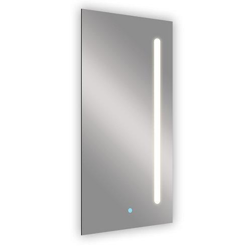 Espejo de baño con luz led push 45 x 90 cm