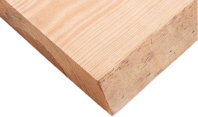 Tablero macizo de pino 30/50x120x6 cm tarugo 2 lados bruto