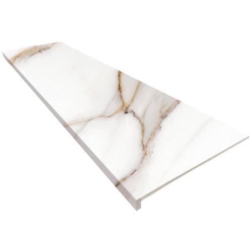 Peldaño recto extrusionado blanco de 120 x 33 cm