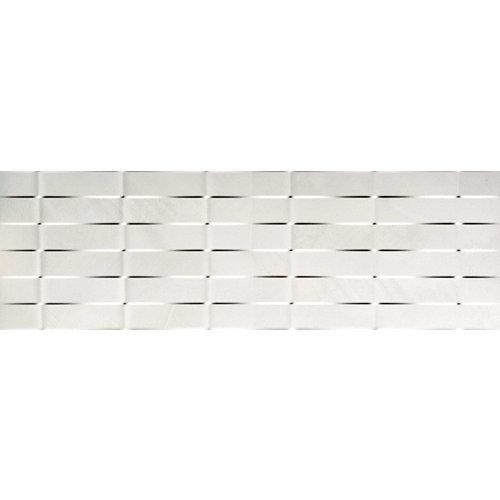 Azulejo cerámico basket 100x31,5 blanco, apto para baños y cocinas