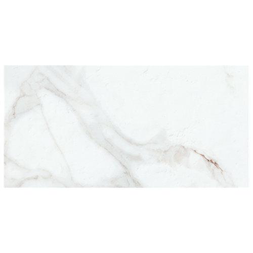 Suelo cerámico porcelánico calacatta 60x30 blanco c1