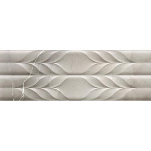 Azulejo de decoración pandora de pasta blanca gris / plata