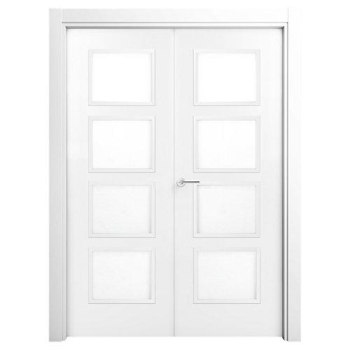 puerta bari premium blanco de apertura derecha de 105 cm