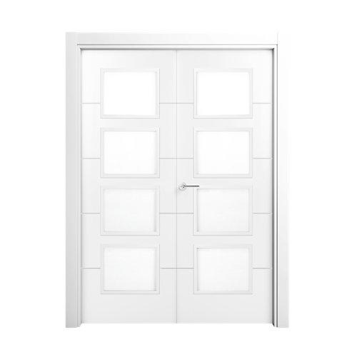 Puerta lucerna premium blanco de apertura derecha de 125.00 cm