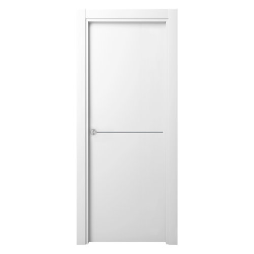 Puerta de interior corredera oporto blanco de 72.5 cm