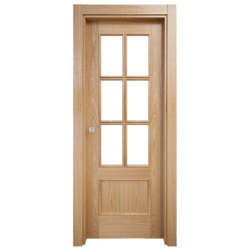Puerta de interior corredera atenas roble de 82.5 cm