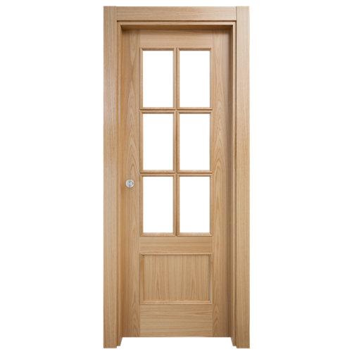 Puerta de interior corredera atenas roble de 72.5 cm