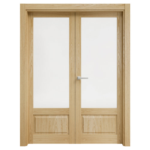 puerta sofía roble de apertura izquierda de 165 cm
