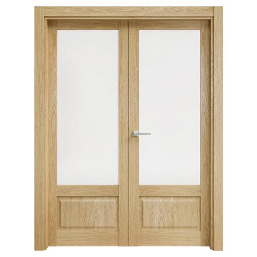 puerta sofía roble de apertura izquierda de 145 cm