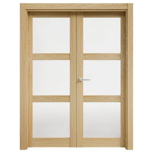 puerta moscú roble de apertura derecha de 145 cm