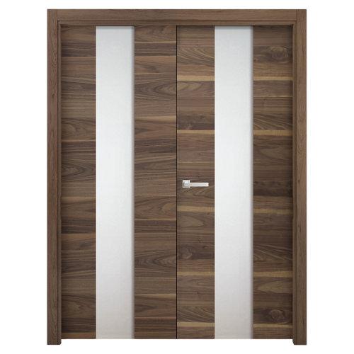 puerta oboe nogal de apertura derecha de 165 cm