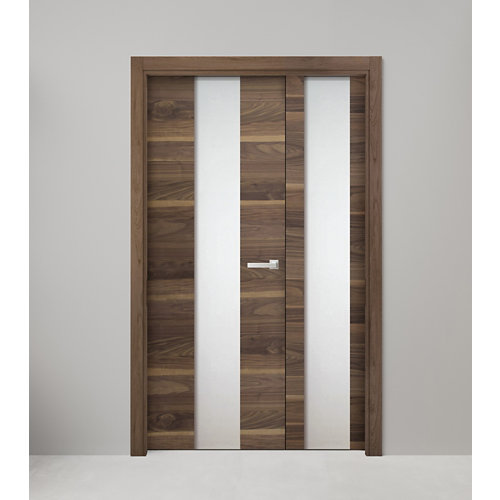 puerta oboe nogal de apertura izquierda de 125 cm