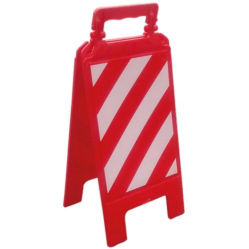 Panel plegable franjas blanca y roja.