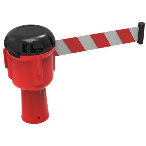 Bobina rectractil para cono 9m en blanco y rojo