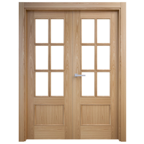 puerta atenas roble de apertura izquierda de 145 cm